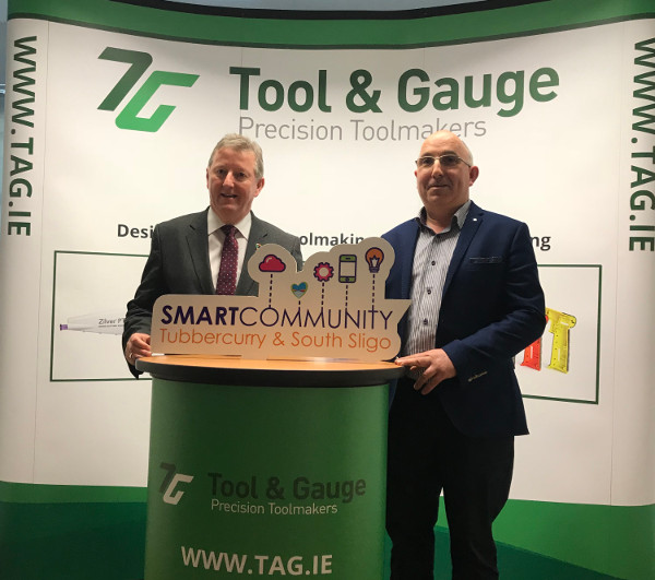 Gerry Rafter with Minister Sean Canney