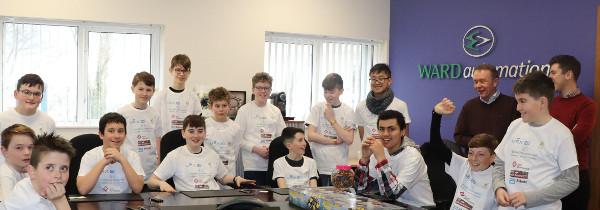 Students from St Macartans NS meeting the Ward Automation team