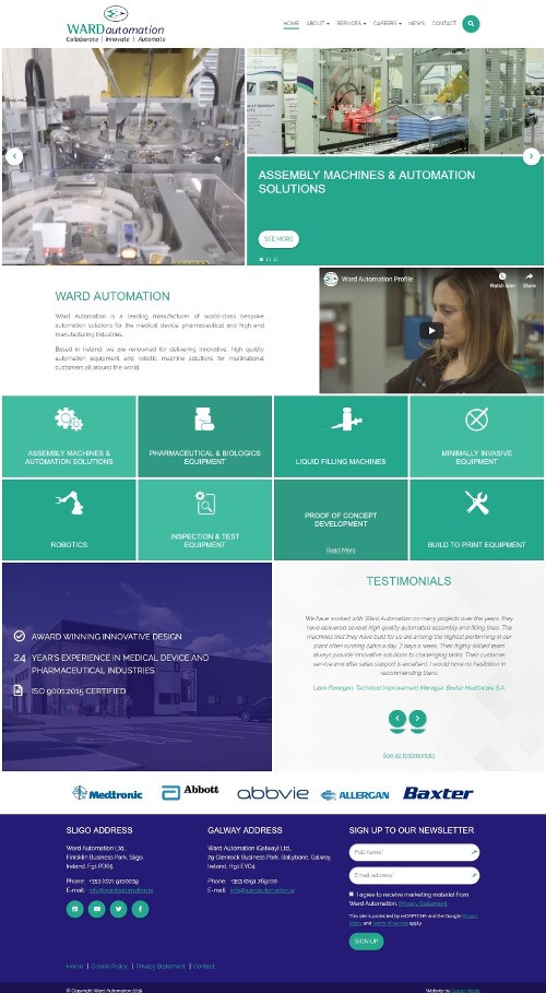 Ward Automation Launches New Website