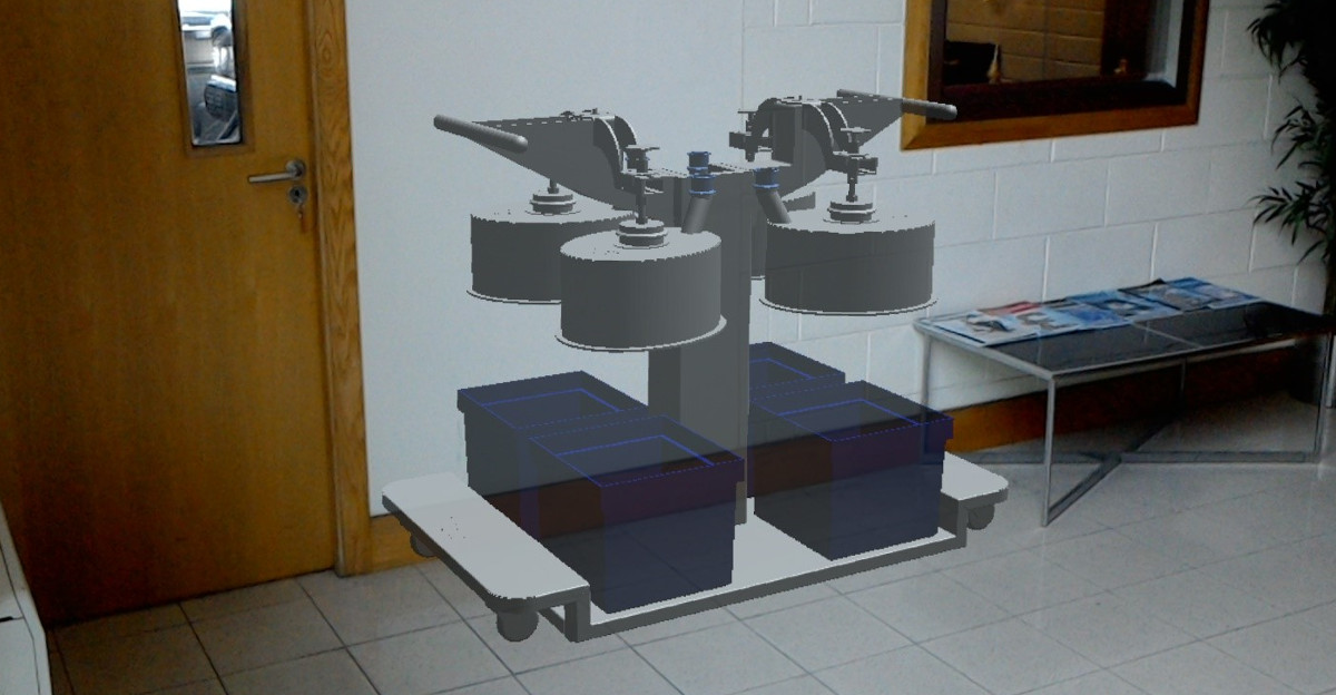 Example of mixed reality technology being used at Pharmaceutical Stainless Supplies
