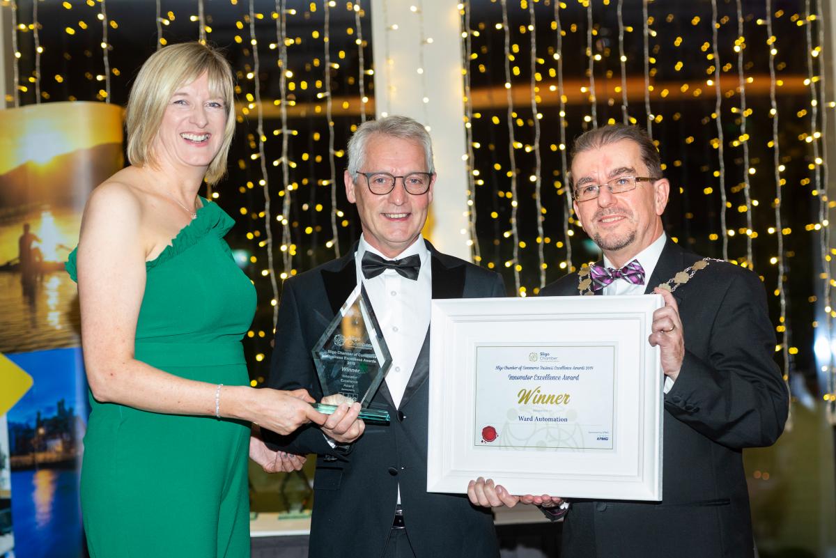 Ward Automation winning the Innovation Award at the Sligo Chamber Excellence Awards